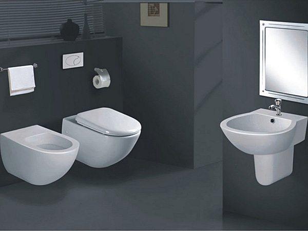 ristrutturare il bagno: sostituzione dei sanitari con modelli ... - Bagni Moderni Con Sanitari Sospesi
